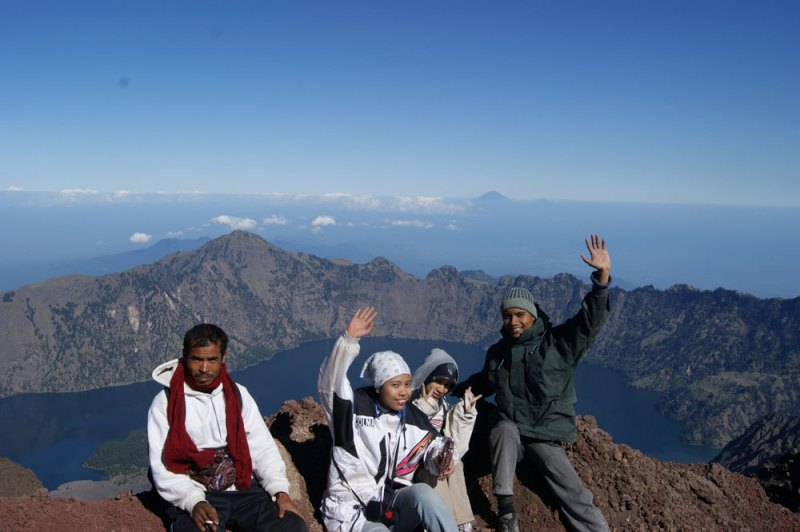 Summit Mount Rinjani 3726 meter
