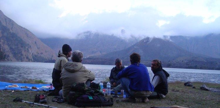 Relax at Segara Anak Lake