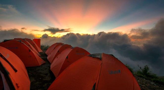 Plawangan Sembalun Crater Rim altitude 2639m of Mount Rinjani