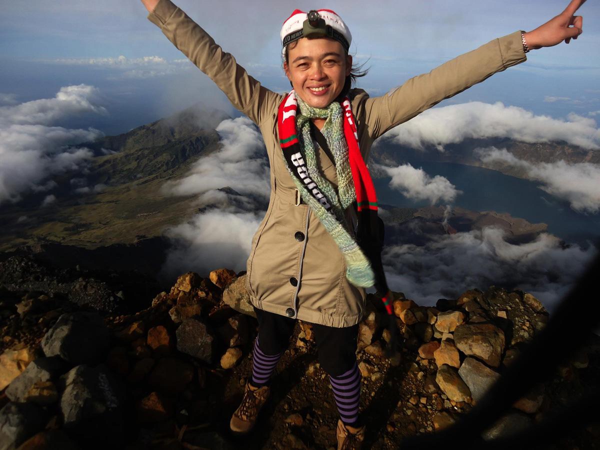 Summit of Mount Rinjani 3726m