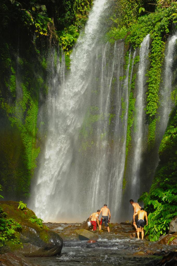 Tiu Kelep waterfall Senaru Mount Rinjani
