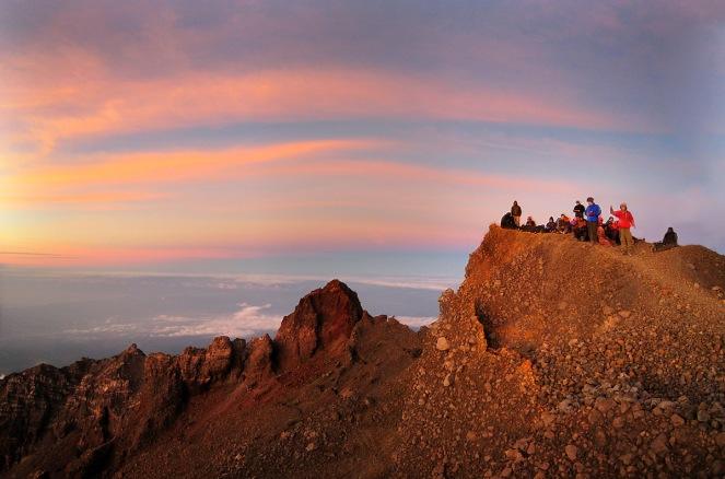 Summit of Mount Rinjani 3726 meter