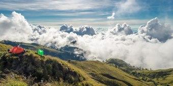 Plawangan Senaru crater rim altiude 2641 meters Mount Rinjani