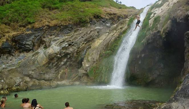 Hot spring Lake Segara Anak Mount Rinjani